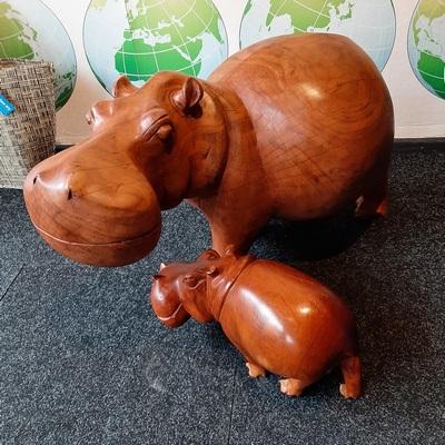 Nijpaard moeder en baby